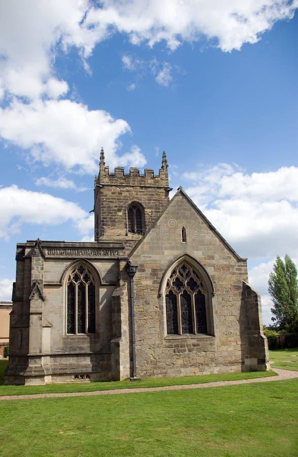 Toute l'église Kedleston de saints images stock