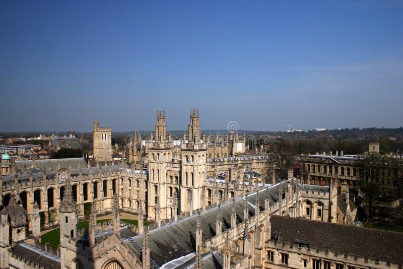 Toute l'Université d'Oxford 2 d'université d'âmes image libre de droits