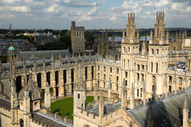 Toute l'université Oxford de Soulâs image libre de droits