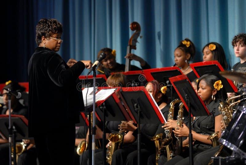 Toute La Bande De Jazz De Filles Photo stock éditorial