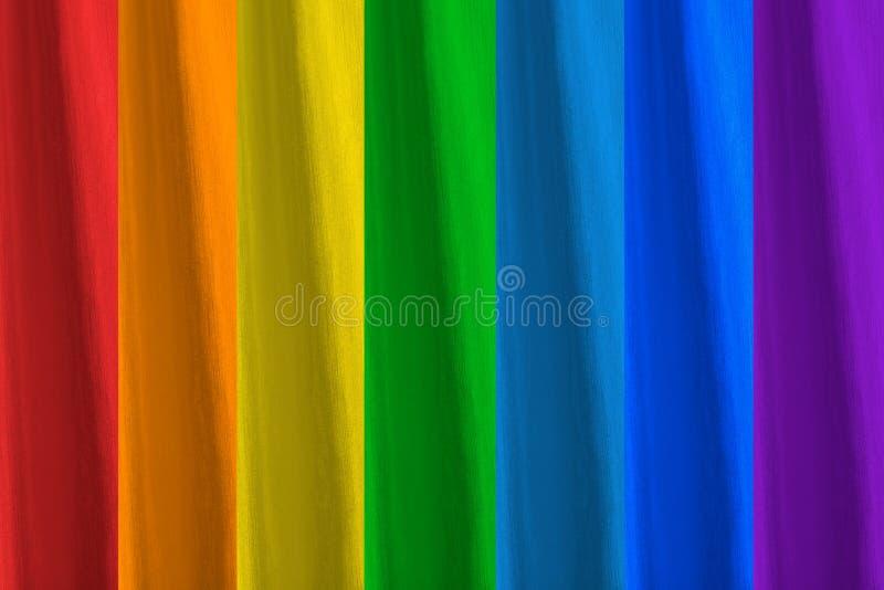 Toutes les couleurs de l'arc-en-ciel photographie stock
