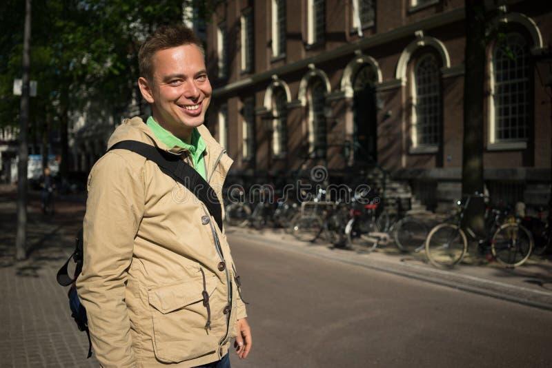 Toutist à Amsterdam photos libres de droits