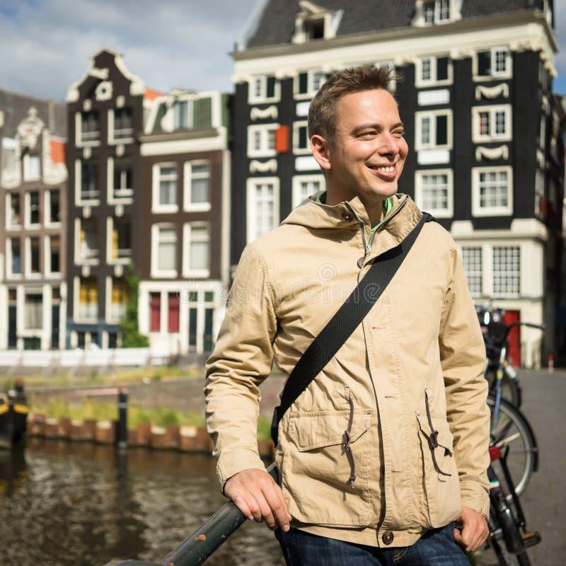 Toutist à Amsterdam photo stock