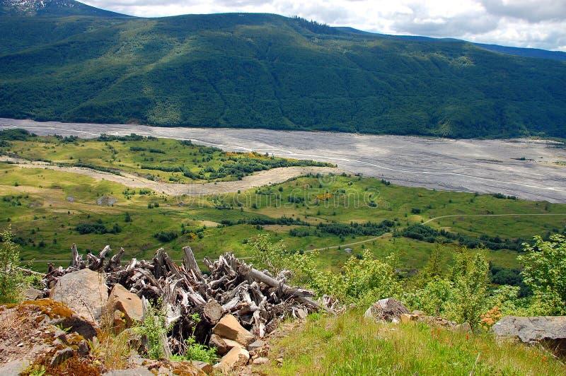 Toutle river stock photo