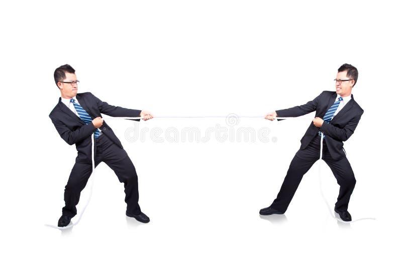 Touwtrekwedstrijd met mij stock afbeelding