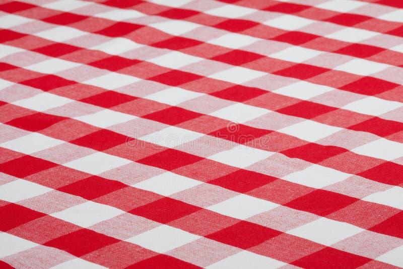 Tovaglia controllata rossa del tessuto immagine stock libera da diritti