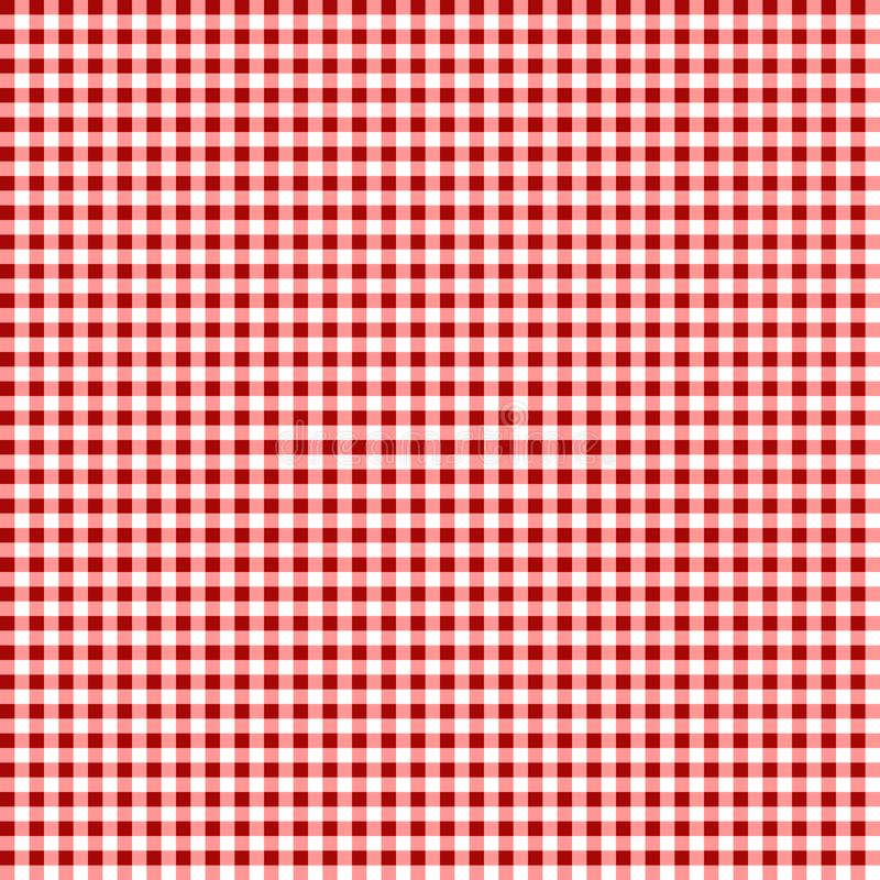 Tovaglia di picnic Modello a quadretti senza cuciture di vettore Struttura d'annata del tessuto del plaid di colore illustrazione vettoriale
