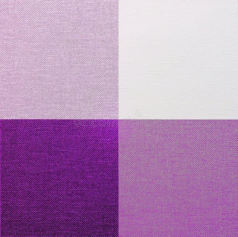Tovaglia porpora, rosa e bianca del percalle fotografie stock