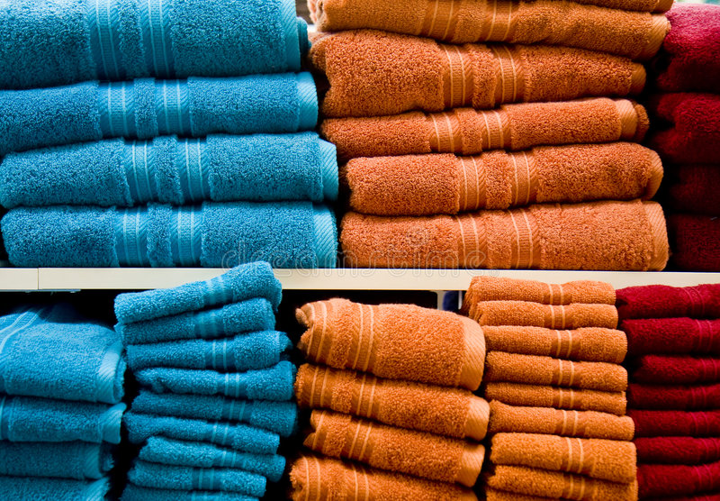 Download Tovaglioli arancioni blu fotografia stock. Immagine di asciutto - 7323762