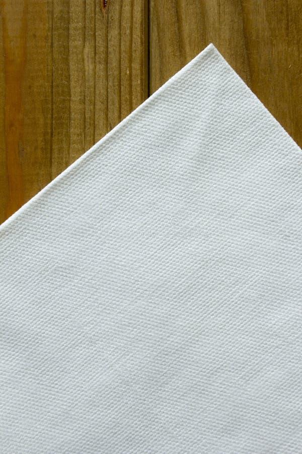 Tovaglioli del Libro Bianco fotografia stock