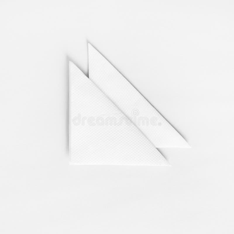 Tovaglioli di carta in bianco fotografia stock