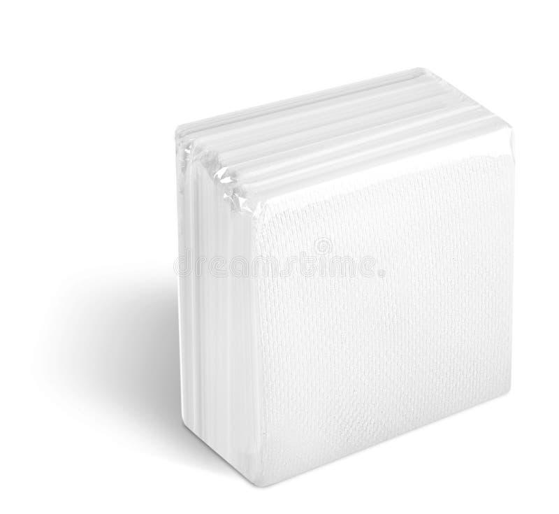 Tovaglioli di carta a gettare immagini stock