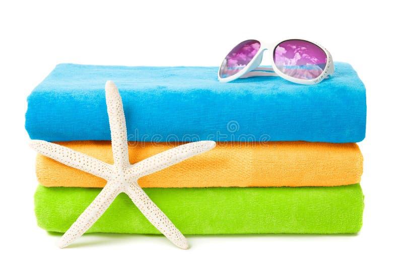 Tovaglioli di spiaggia fotografie stock libere da diritti