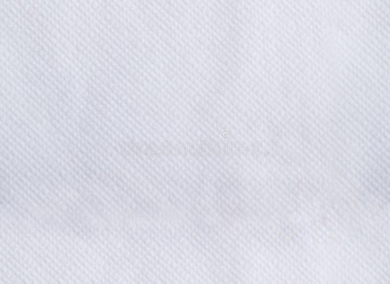 Tovagliolo di carta che imprime struttura senza cuciture Fondo bianco di colore fotografia stock libera da diritti
