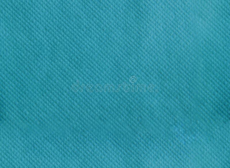 Tovagliolo di carta che imprime struttura senza cuciture Fondo di colore del turchese immagini stock