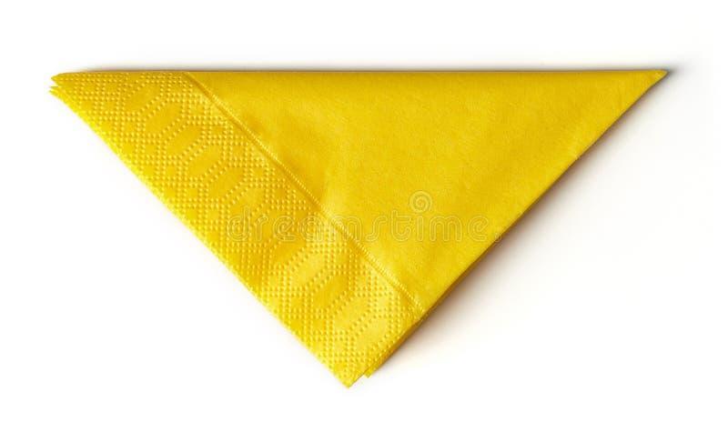 Tovagliolo di carta giallo immagini stock libere da diritti