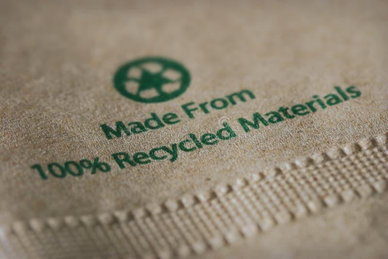Tovagliolo di carta riciclato immagine stock