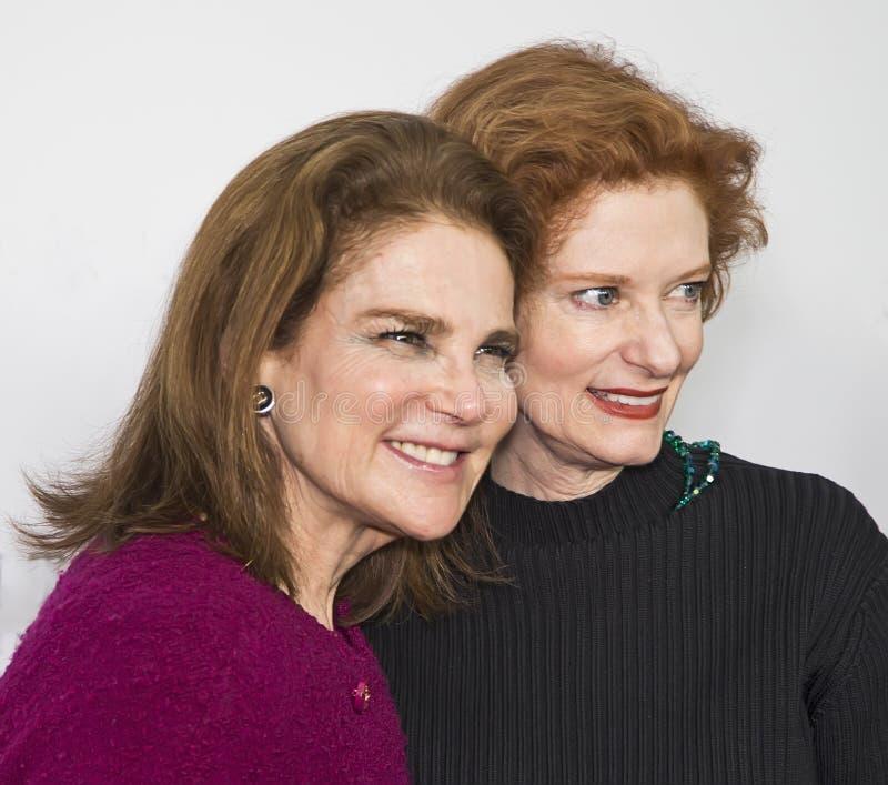 Tovah Feldshuh y Lisa Pelikan foto de archivo