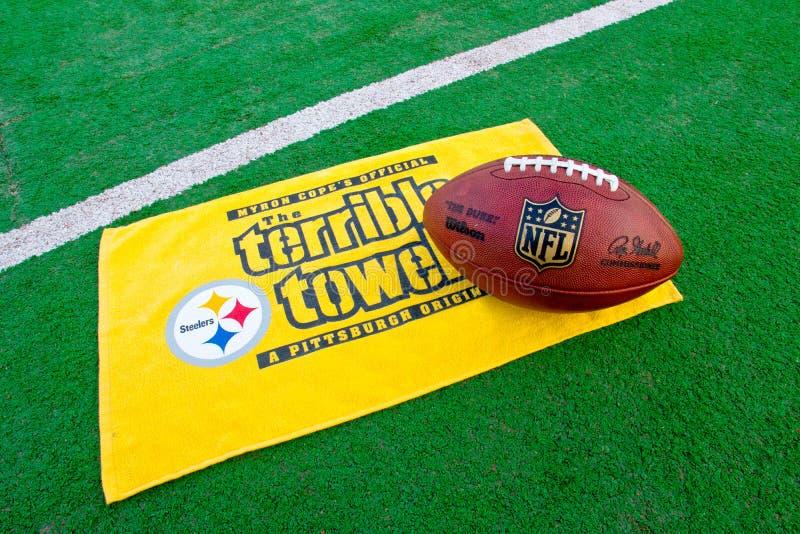 Tovel terrible de los Pittsburgh Steelers foto de archivo libre de regalías