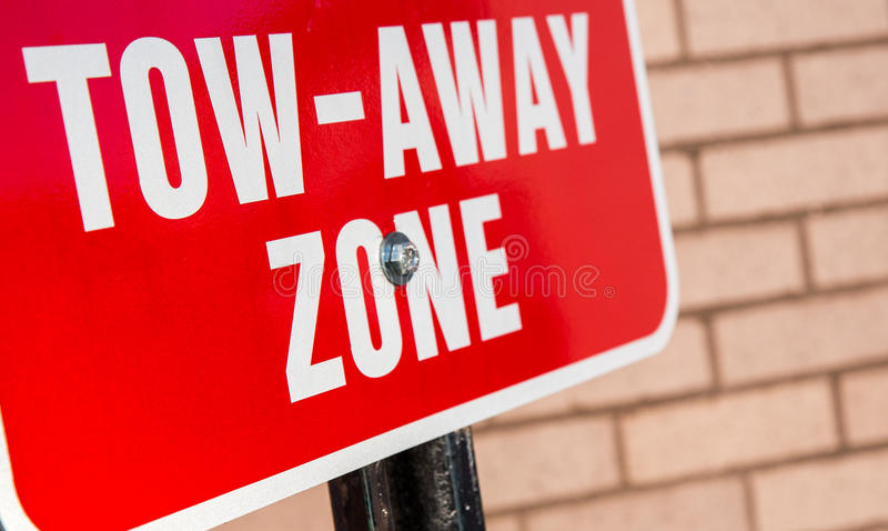 Tow away zone royalty free stock images
