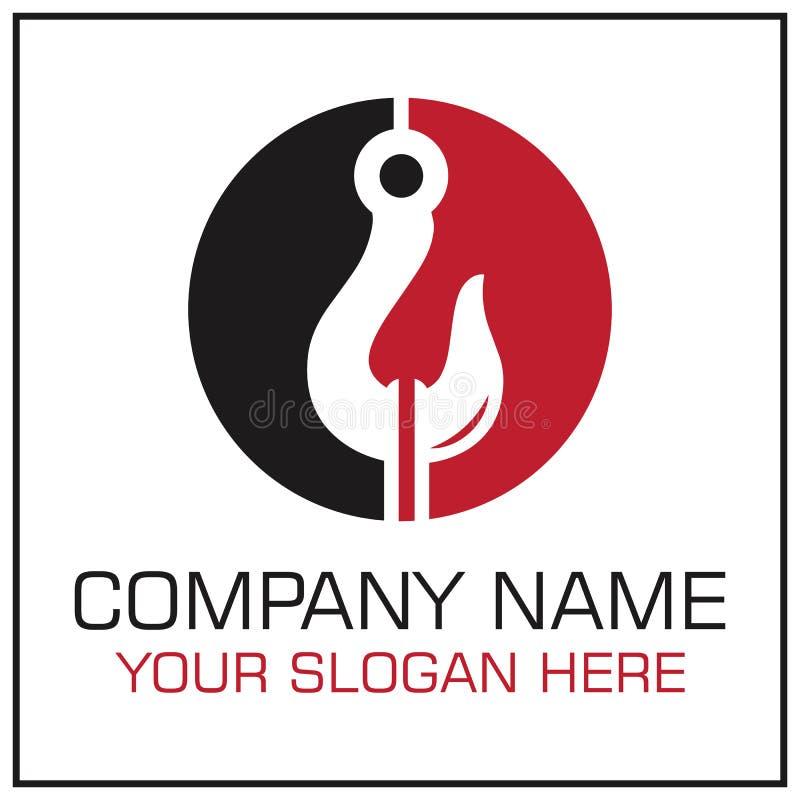 Tow Hook Vector Logo voor het Slepen van de Dienstbedrijf royalty-vrije illustratie