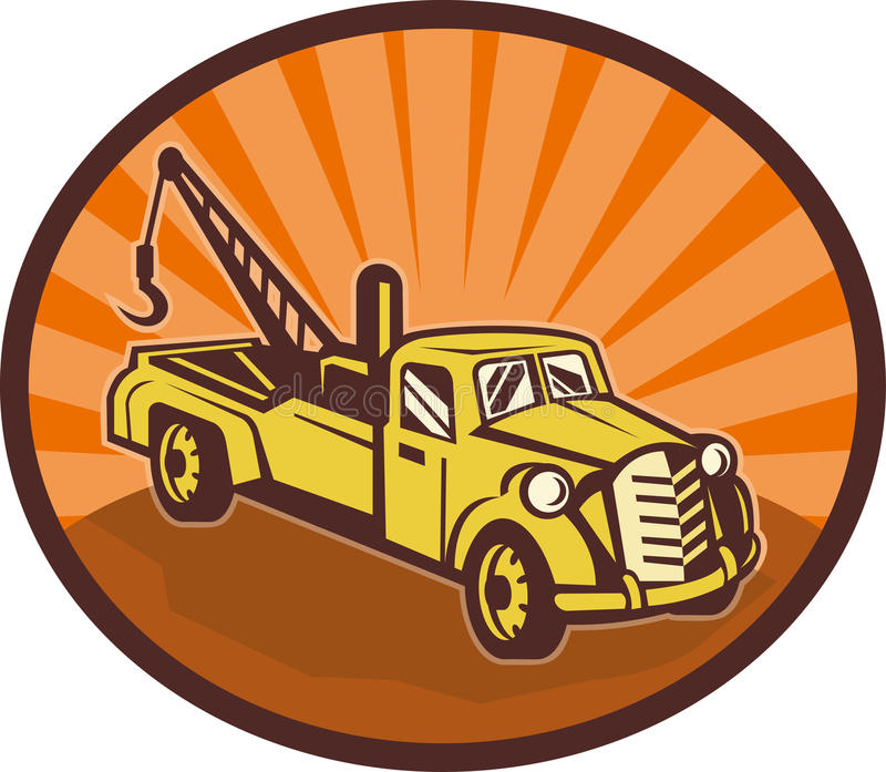 Download Tow Truck Wrecker Pick-up Truck Stock Illustration - Illustration: 14932920