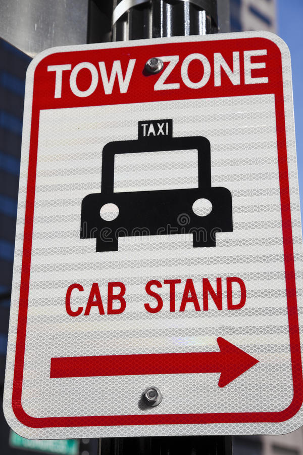 Download Tow Zone - Cab Stand stock photo. Image of road, icon - 25192690