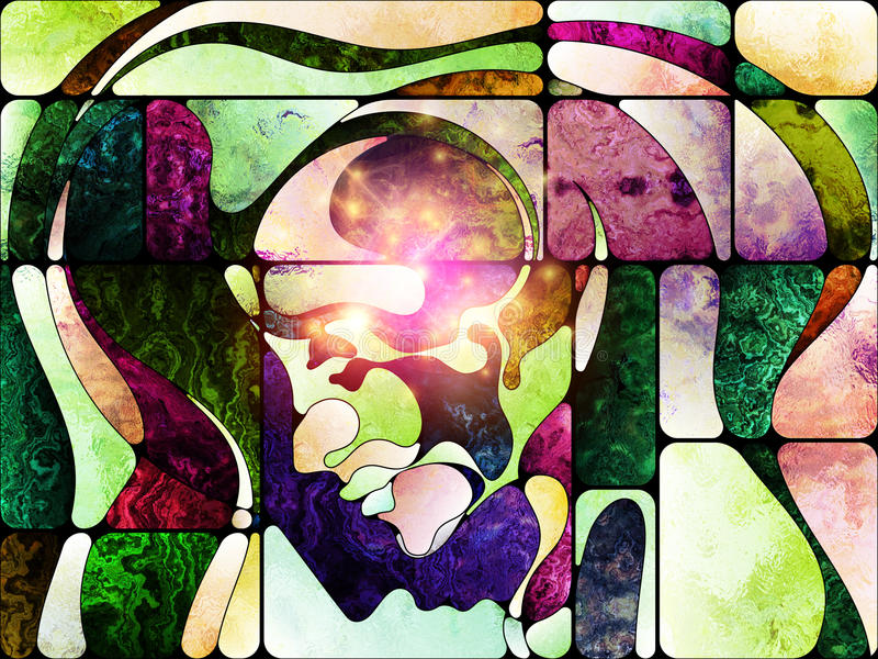 Toward Digital Colored Glass Stock Illustration - Illustration of ...