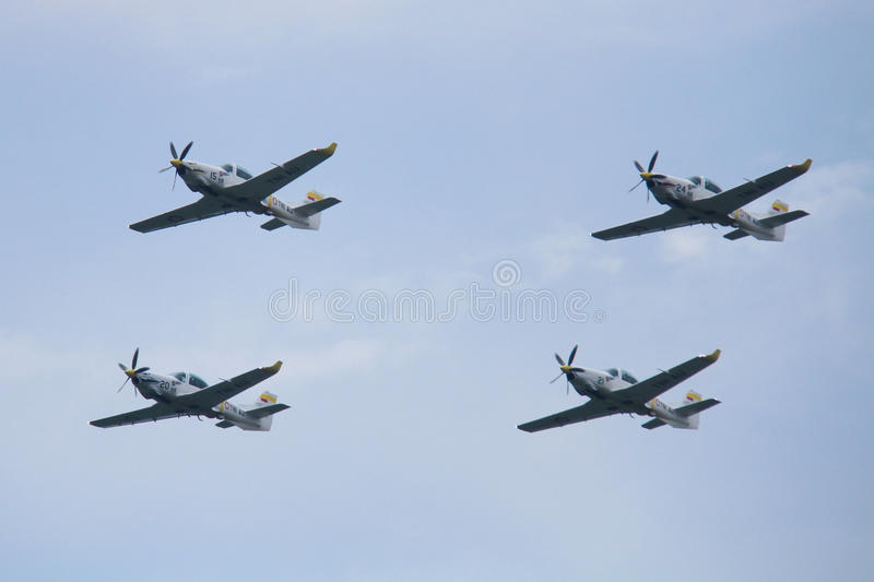 Flying Military Airplanes royalty free stock images