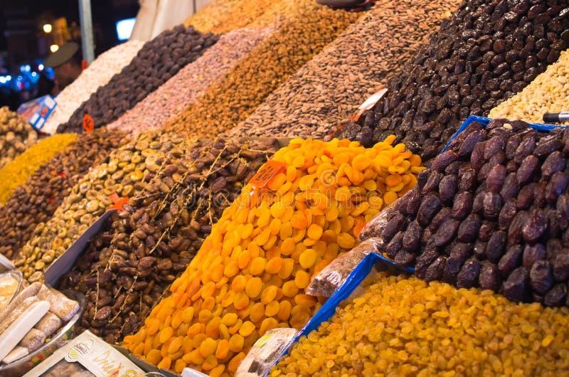 Towary na rynku w Marrakech, Maroko zdjęcia royalty free