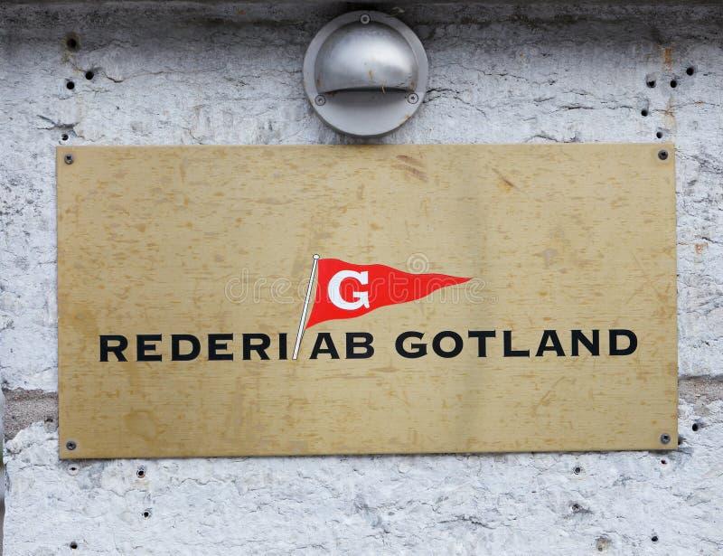 Towarzystwo żeglugowe Rederi AB Gotland zdjęcia royalty free