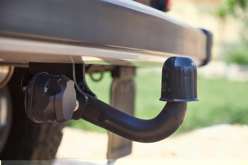 Towbar on a car stock photos