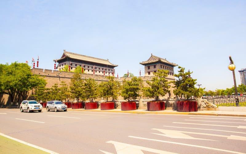 Towe du sud de porte dans Xian image stock