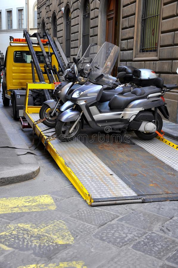 Download Towed Motorcycles Royalty Free Stock Images - Image: 16419109