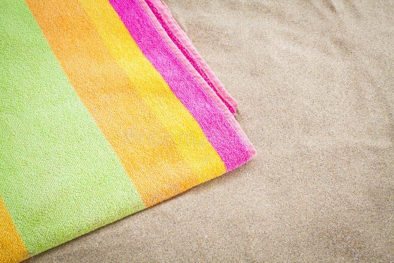 Towel beach stock photos