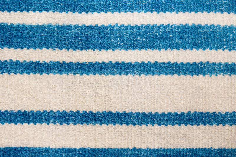 Towel with blue horizontal stripes. macro royalty free stock image