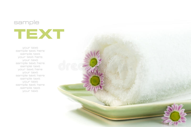 Download Towel with flowers stock image. Image of life, being - 10401147