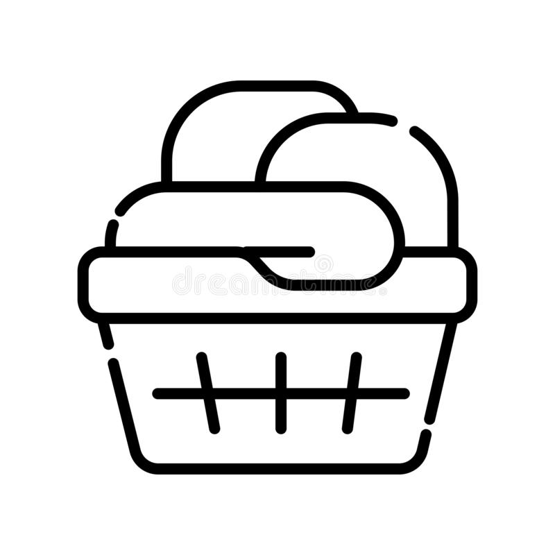 Towel line vector icon stock illustration