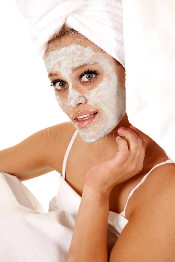 Download Towel mask spa stock image. Image of face, beautician - 24637987
