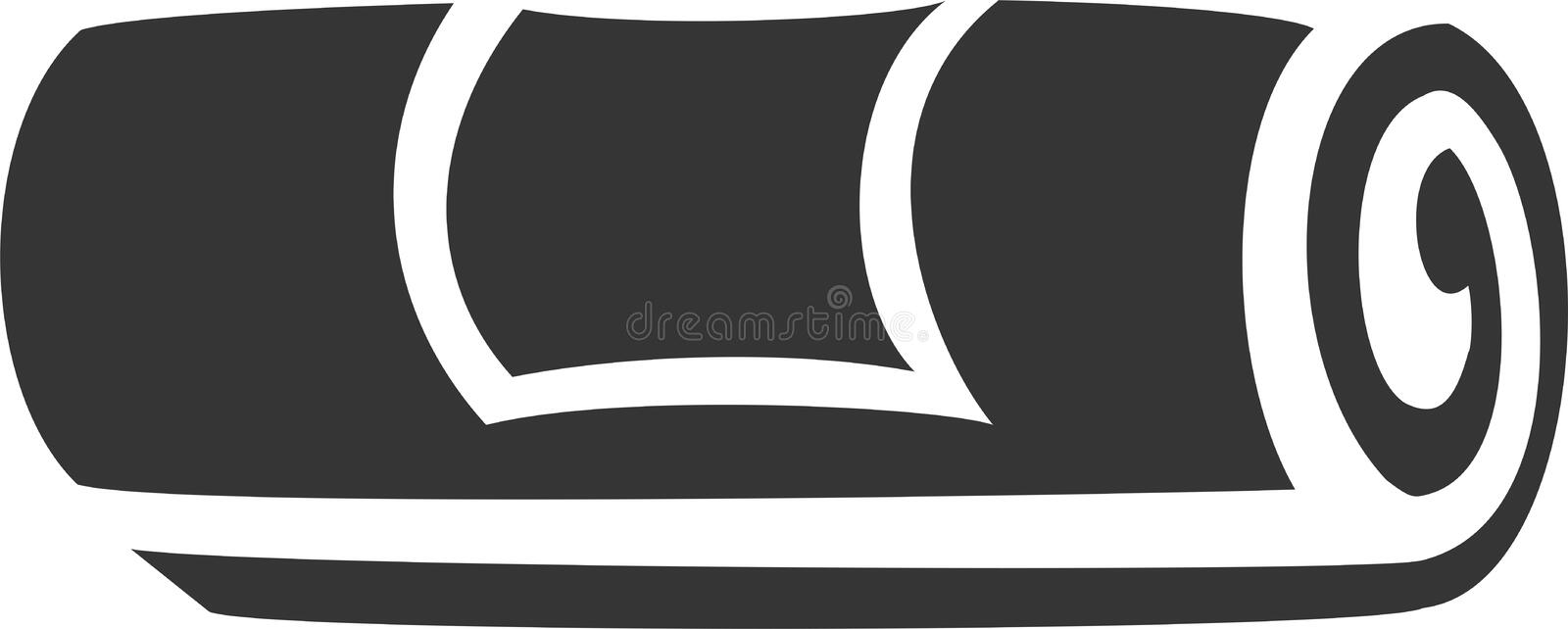 Towel Roll with Label royalty free illustration