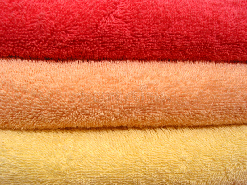 Towel stack royalty free stock photo