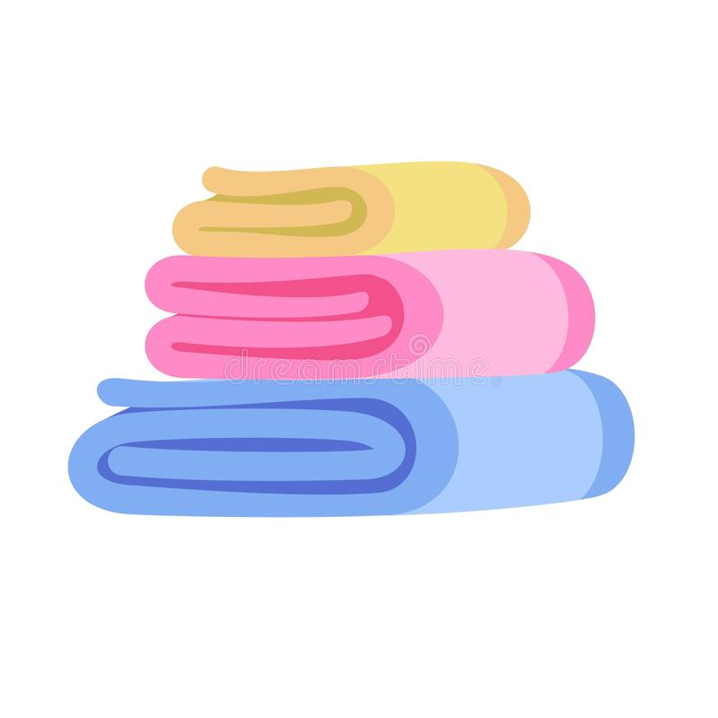 Towel stack icon, flat style royalty free illustration