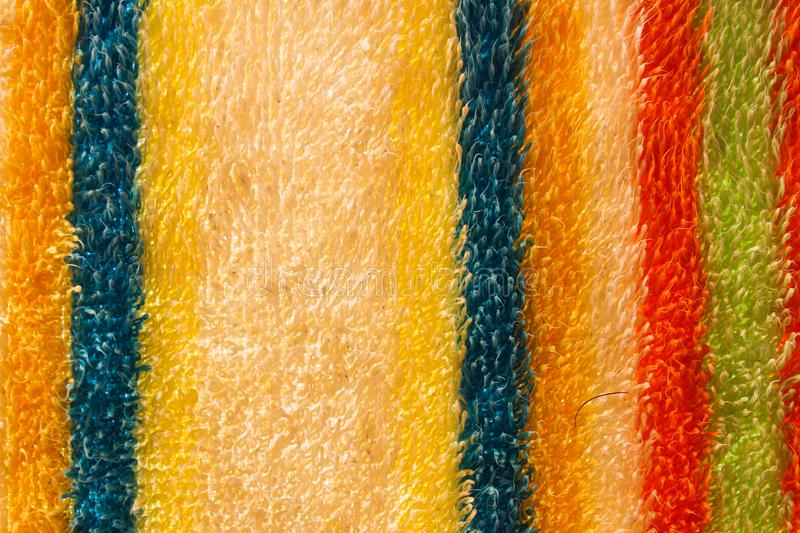 Towel Texture Bath Natural Closeup. Nobody Beach Structure Soft Surface royalty free stock photography