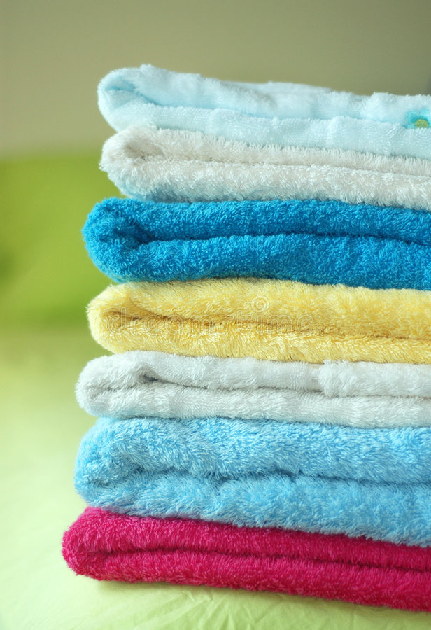 Download Towels stock image. Image of bath, colors, fold, clean - 103707