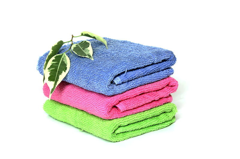 Download Towels stock image. Image of freshness, copy, cloth, massage - 10396429