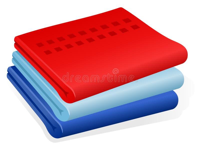 Download Towels stock vector. Illustration of indigo, resort, towels - 13529828