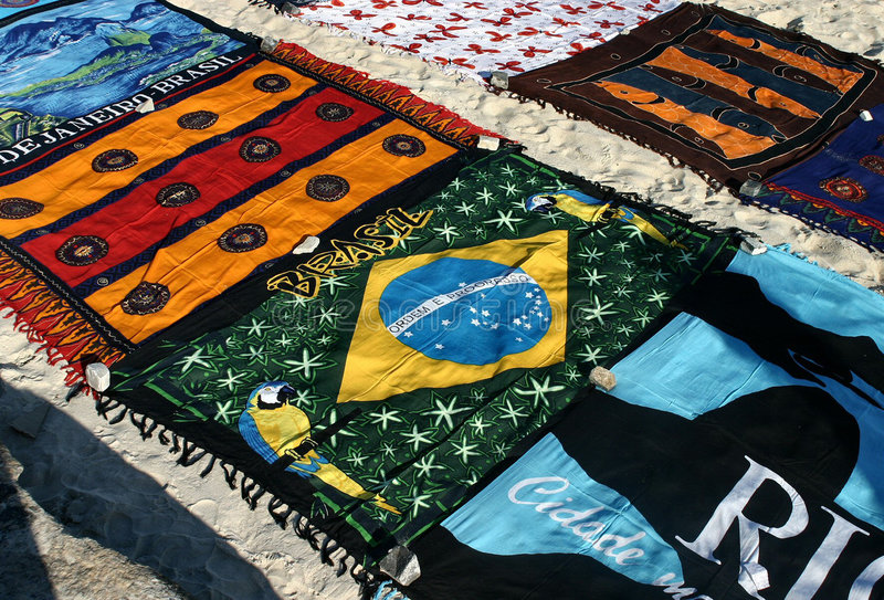 Download Towels in the sand stock image. Image of ipanema, towels - 473347