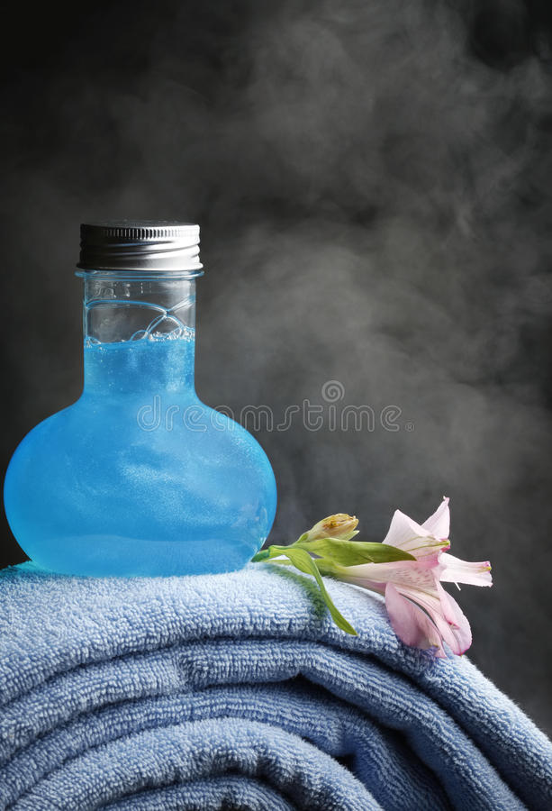 Download Towels and shampoo stock image. Image of abstract, bathe - 12735649