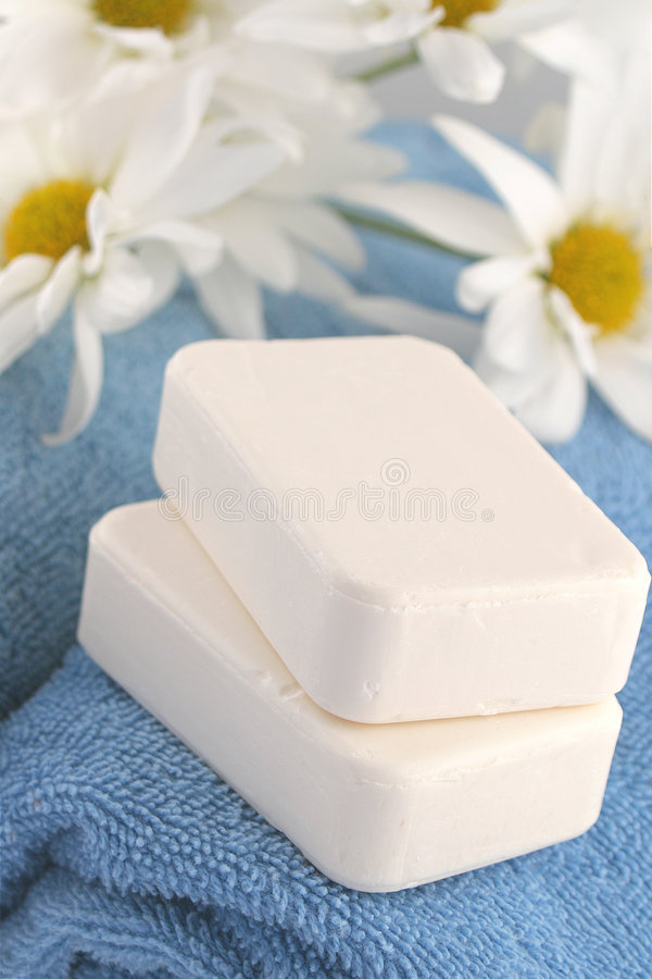 Download Towels and soap stock image. Image of scent, daisies, masculine - 1948655