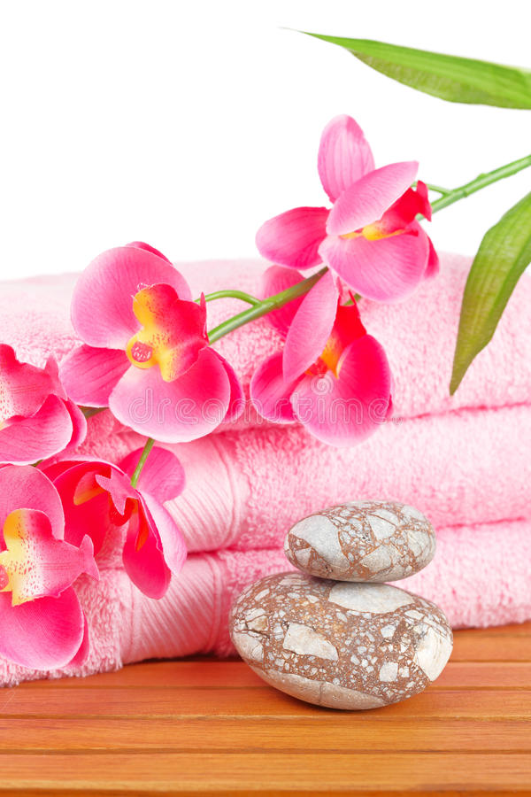 Download Towels and soap bottle stock image. Image of stones, health - 11660523